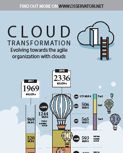Cloud Transformation: evolving towards the agile organization with clouds